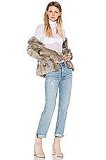 EAVES Liza Rabbit Fur Jacket in Grey