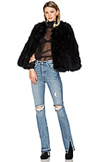Delilah Ostrich Feather Jacket in Black