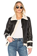 EAVES Piper Moto Jacket in Oreo