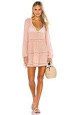 eberjey Summer Of Love Sofia Dress in Misty Rose