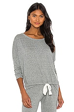 Heather Slouchy Tee en Gris Chiné