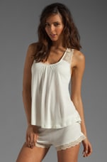 Crochet Dreams Racerback Tank in Ivory