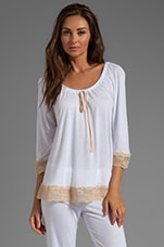 Bardot 3/4 Sleeve Cami in White