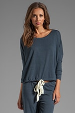 Heather Slouchy Tee in Coal Heather