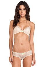 Bralette in Nude & Chartreuse 7 Shell