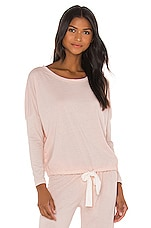 Heather Slouchy Tee in Shell