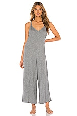 eberjey Charlie Casual Jumpsuit in Heather Grey