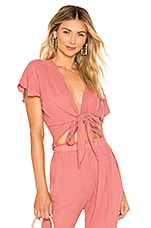 eberjey Summer Of Love Olympia Top in Sunset Rose