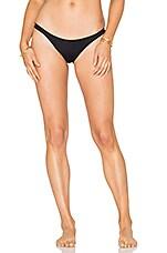 eberjey So Solid Piper Bikini Bottom in Black