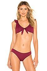 eberjey So Solid Eden Bikini Top in Rhododendron