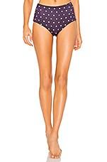 eberjey Dotty Isla Bikini Bottom in Mysterioso & Lavender Herb