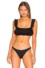 eberjey So Solid Jane Bikini Top in Black