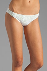 Boho Beautiful Valentina Bikini Bottom in White/Lemon Glow