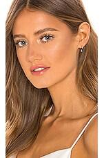 EF COLLECTION Mini Huggie Earring with Diamond Bezel Drop Earrings in 14k Gold
