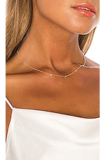 EF COLLECTION 3 White Diamond Bezel Faceted Chain Necklace in Gold