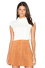 Anna Crop Sleeveless Sweater in Off White