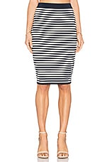 JUPE MIDI STRIPED