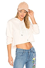 ei8ht dreams Crop Hoodie in Pale Pink
