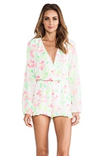 Eight Sixty Romper in White & Highlighter
