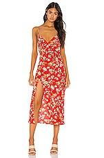 RESA Harper Slip Dress in Red Floral