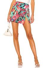 Endless Summer Sassy Mini Skirt in Vintage Floral