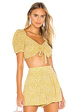 Endless Summer Bella Crop Top in Ditsy Yellow