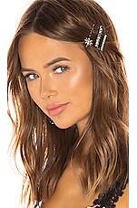 Elizabeth Cole Betty Hair Pin Set in Crystal