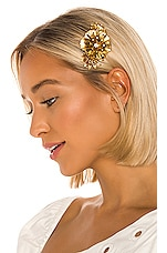 Elizabeth Cole Vilette Hair Comb in Gold