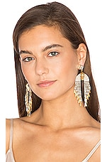 Elizabeth Cole Pixie Earrings in Golden Crystal