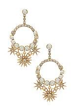 Elizabeth Cole Bracken Earring in Celestial Gold