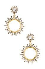 Elizabeth Cole Crystal Statement Earrings in Gold
