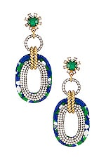 Elizabeth Cole Aria Earrings in Green