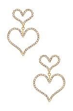 Elizabeth Cole Emilia Earrings in Crystal