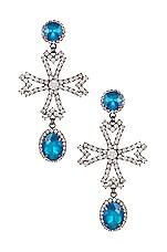 Elizabeth Cole Cynthia Earrings in Blue