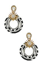 Elizabeth Cole Carson Earrings in Black & White