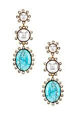 Elizabeth Cole Priscilla Earrings in Turquoise