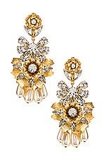 Elizabeth Cole Charlie Earrings in Gold