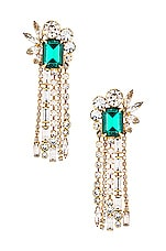 Elizabeth Cole Leigh Earrings in Green
