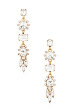 Elizabeth Cole Lilian Earrings in Crystal