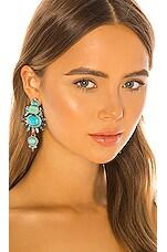 Elizabeth Cole Henning Earrings in Turquoise