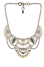 Elizabeth Cole Chandelier Necklace in Sand opal
