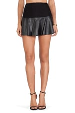 Trinity Faux Leather Skirt in Black