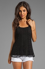 Hailee Crochet Tank in Black