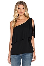 Stella One Shoulder Top en Noir