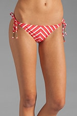 Portofino Tie Side Bottoms in Coral