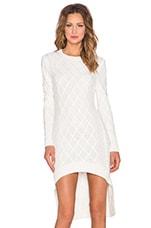 ELLIATT Realm Knit Dress in White