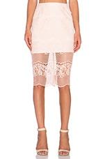 ELLIATT Mood Lace Skirt in Peach