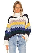 ELEVEN SIX Freya Sweater in Multi Combo