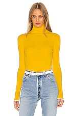 ELEVEN SIX Edie Turtleneck Sweater in Canary