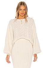 ELEVEN SIX Charlotte Sweater in Ivory
